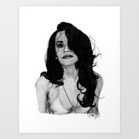 aaliyah Art Prints featuring Aaliyah by Finn Art