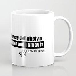 marilyn black and white art design Coffee Mug