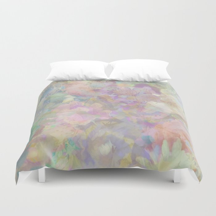 Sweet Spring Pastel Floral Abstract Bettbezug