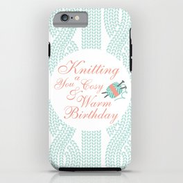 { Knitting you } iPhone Case