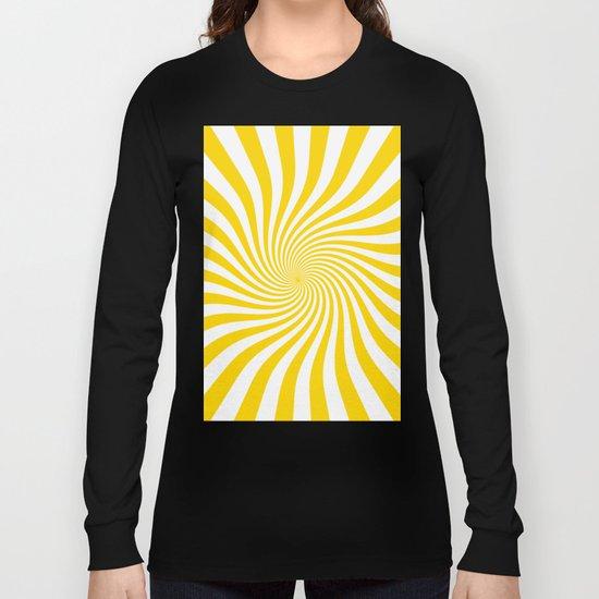 Swirl (Gold/White) Long Sleeve T-shirt
