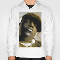 biggie smalls Hoodies featuring The Notorious B.I.G (Biggie Smalls) by darylrbailey
