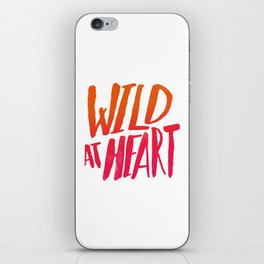 Wild At Heart x Typography Flame Ombre iPhone Skin