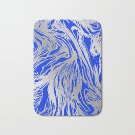 Marbled Blue Bath Mat