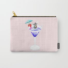 Penguin in Cocktail Carry-All Pouch