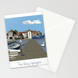 Town Quay, Lymington Stationery Cards