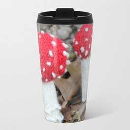 Knitted Fly Agaric Toadstool Travel Mug