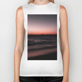 Sunset Shades of Magenta Beach Ocean Seascape Landscape Coastal Wall Art Print Biker Tank