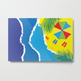 Summertime at the beach Metal Print