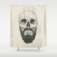 beard Shower Curtains featuring The beard is not dead by Balazs Solti