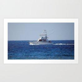 Charter Fishing Boat Art Print