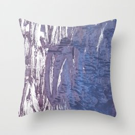 Rhythm abstract watercolor Throw Pillow