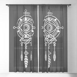 Cosmic Dreamcatcher Sheer Curtain