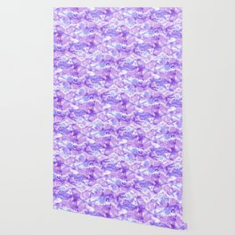 Marble Mist Lilac Wallpaper