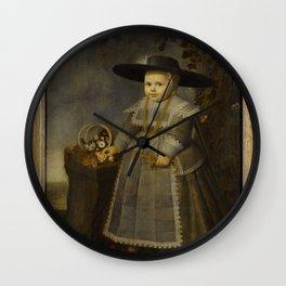 Portrait of a Little Boy, Willem van der Vliet (c. 1584-1642), 1638 Wall Clock