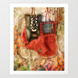 Boxing Modern Art Print