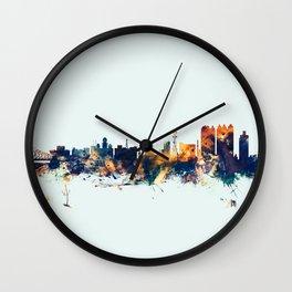 Calcutta Kolkata India Skyline Wall Clock