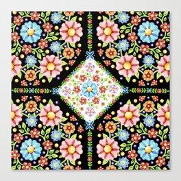 Millefiori Tile Pattern Canvas Print