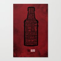 true blood Canvas Prints featuring True Blood by Luke Eckstein