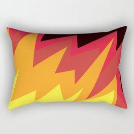 Raising a little hell! By Angelica Ramos Rectangular Pillow