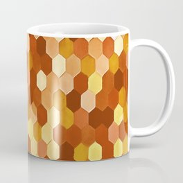 Honeycomb Pattern In Warm Mead and Honey Colors Coffee Mug