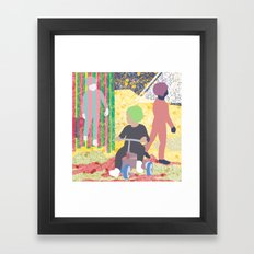 The texture of the air Framed Art Print