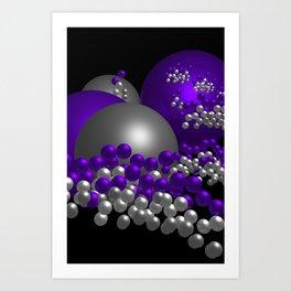 violet geometry -100- Art Print