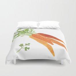 Carrot Illustration Duvet Cover