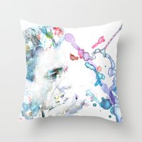 johnny cash Throw Pillows featuring Johnny Cash by Kaitlyn Wilcox