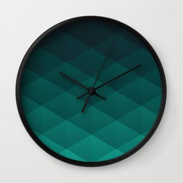 Graphic 869 // Grid Teal Fade Wall Clock