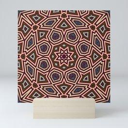 Choc Pink Geometric Star Mini Art Print