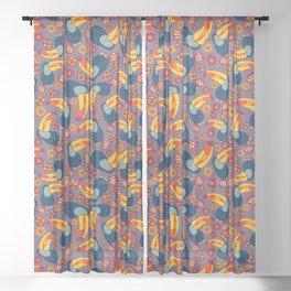 Tropical Toucan Jungle Sheer Curtain