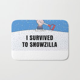 I SURVIVED TO SNOWZILLA Bath Mat
