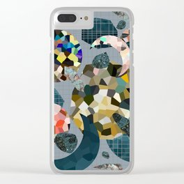 Gemstone Space Moon Clear iPhone Case