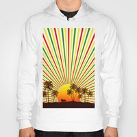 reggae Hoodies featuring Sunshine Reggae by A-Devine