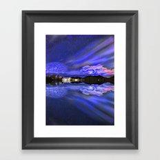 Nightfall Reflection Framed Art Print