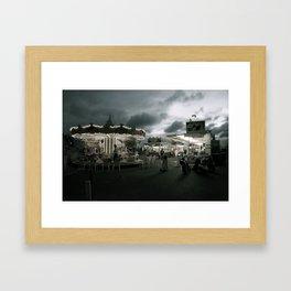 It looks like it's gonna rain Framed Art Print