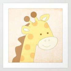 Giraffe Jungle Series Print Art Print