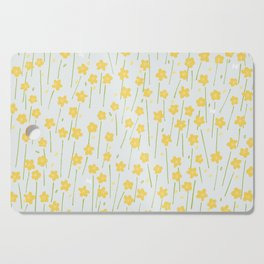 Buttercup Field M+M Evergreen by Friztin Cutting Board