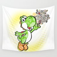 yoshi Wall Tapestries featuring Yoshi Wonderland !  by Art & Be