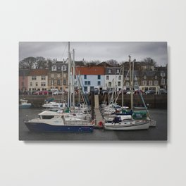 Anstruther Boat Yard Metal Print