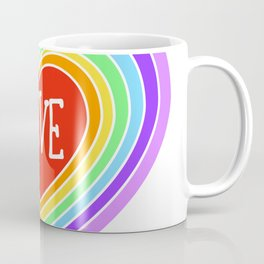 Rainbow Love Heart Coffee Mug