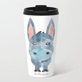 Water Colour Baby Donkey Metal Travel Mug