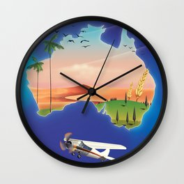 Australia travel poster Wall Clock