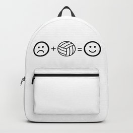 Volleyball Makes Me Happy Backpack