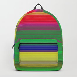 colorful horizontal lines Backpack