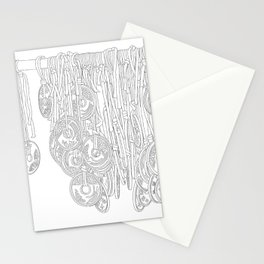 Happy Five Yen Coins - Line Art Stationery Cards