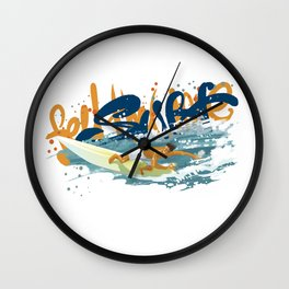 Surfer print Wall Clock