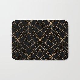 Elegant geometric copper black Bath Mat