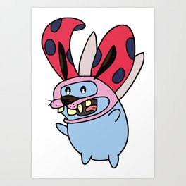 Catbug Courage Art Print